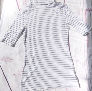 A New Day Striped turtleneck top Size M